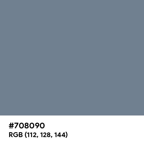 Slate Gray (Hex code: 708090) Thumbnail