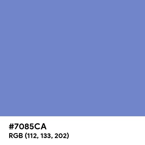 Blue-Gray (Hex code: 7085CA) Thumbnail