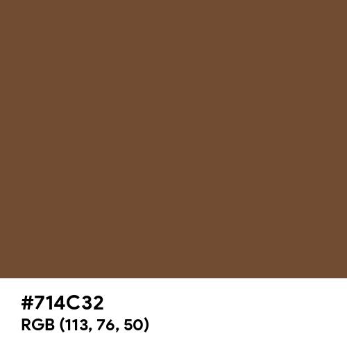 Classic Brown (Hex code: 714C32) Thumbnail