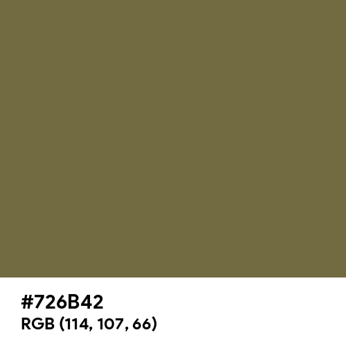 Boy Red (Hex code: 726B42) Thumbnail