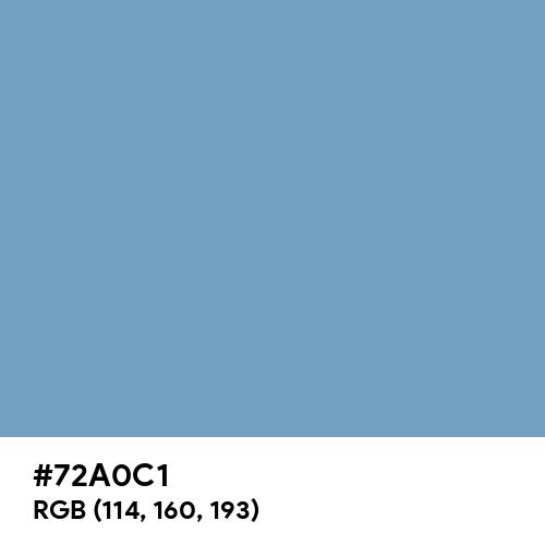 PRU Blue (Hex code: 72A0C1) Thumbnail