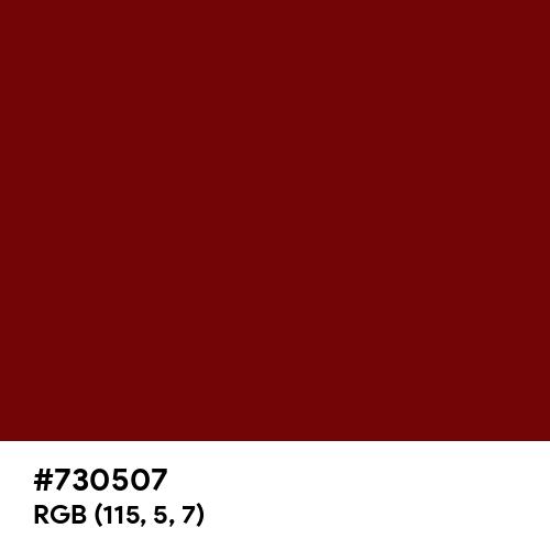 Red Burgundy (Hex code: 730507) Thumbnail