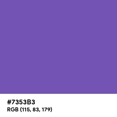 Royal Purple (Hex code: 7353B3) Thumbnail