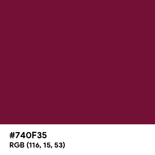 Royal Burgundy (Hex code: 740F35) Thumbnail