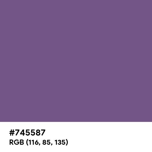 Purple Heart (Hex code: 745587) Thumbnail