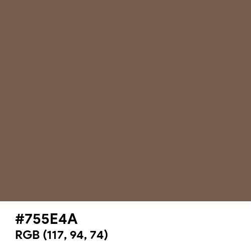 Neutral Brown (Hex code: 755E4A) Thumbnail