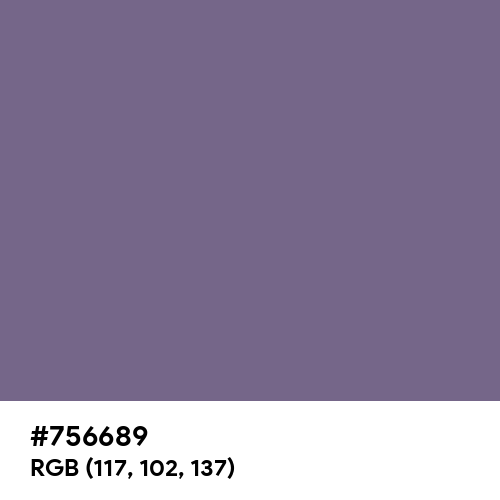 Chinese Violet (Hex code: 756689) Thumbnail