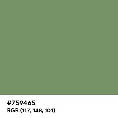 Jade Green (Hex code: 759465) Thumbnail