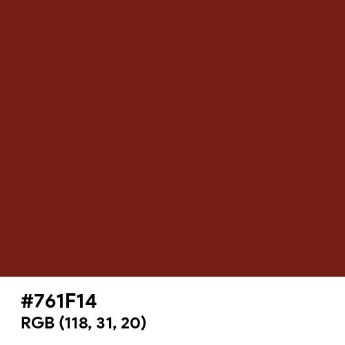Persian Plum (Hex code: 761F14) Thumbnail