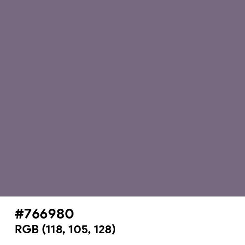 藤鼠 (Fujinezumi) (Hex code: 766980) Thumbnail