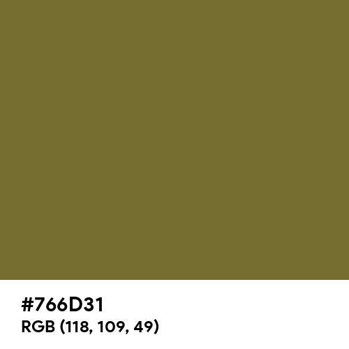 Camouflage (Hex code: 766D31) Thumbnail