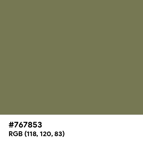Alexandrite Green (Hex code: 767853) Thumbnail