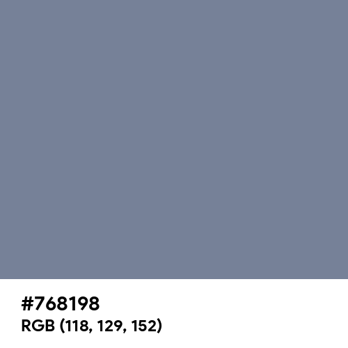 Light Slate Gray (Hex code: 768198) Thumbnail