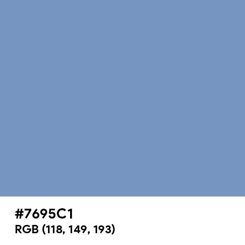 Cerulean Frost (Hex code: 7695C1) Thumbnail