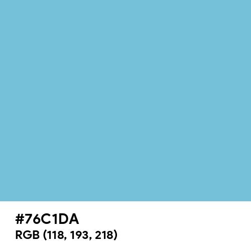 Pale Cerulean (Hex code: 76C1DA) Thumbnail