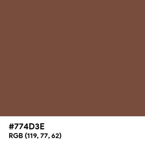 Signal Brown (RAL) (Hex code: 774D3E) Thumbnail