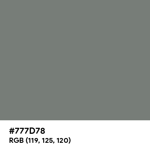 Smoke (Hex code: 777D78) Thumbnail