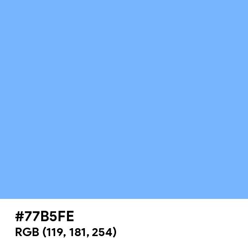French Sky Blue (Hex code: 77B5FE) Thumbnail