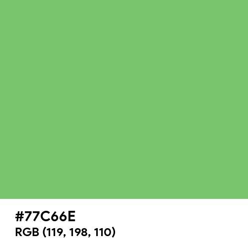 Pretty Green (Hex code: 77C66E) Thumbnail