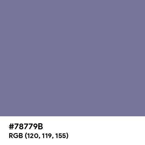 紅碧 (Benimidori) (Hex code: 78779B) Thumbnail