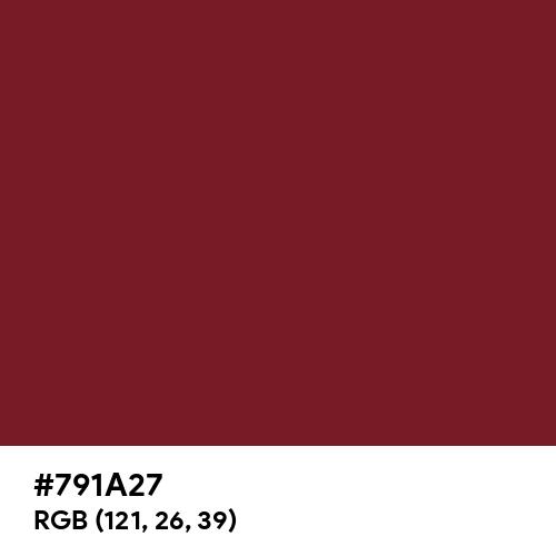Indian Burgundy (Hex code: 791A27) Thumbnail