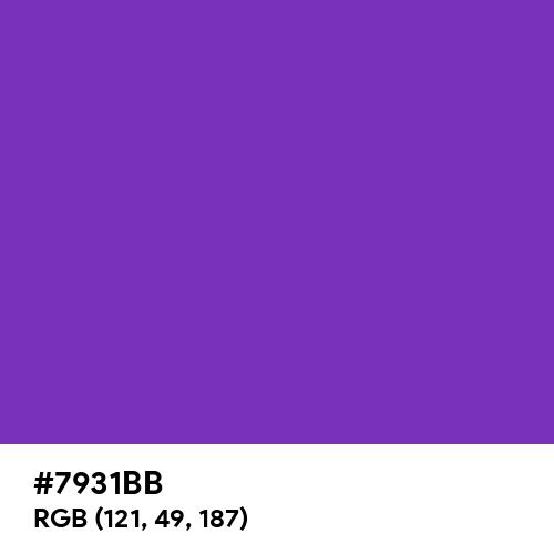 Hot Violet (Hex code: 7931BB) Thumbnail