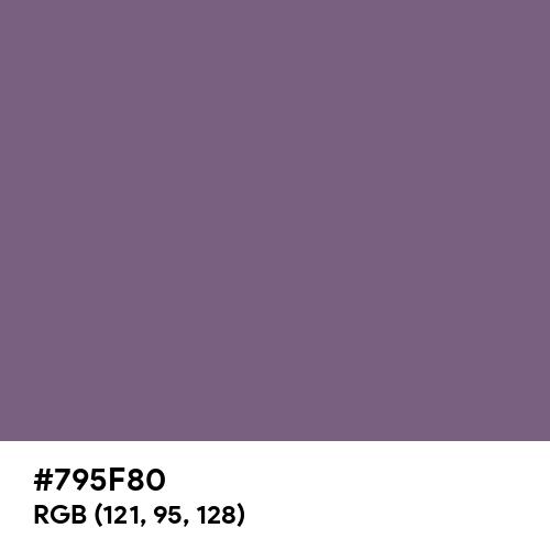 Faded Purple (Hex code: 795F80) Thumbnail