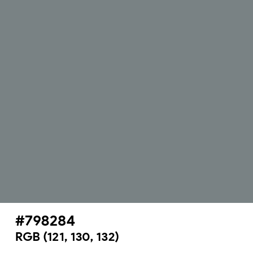 Gray (HTML/CSS Gray) (Hex code: 798284) Thumbnail