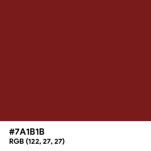 Falu Red (Hex code: 7A1B1B) Thumbnail