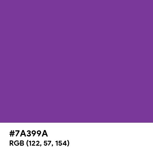 Cadmium Violet (Hex code: 7A399A) Thumbnail