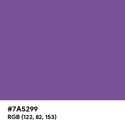 Light Violet (Hex code: 7A5299) Thumbnail