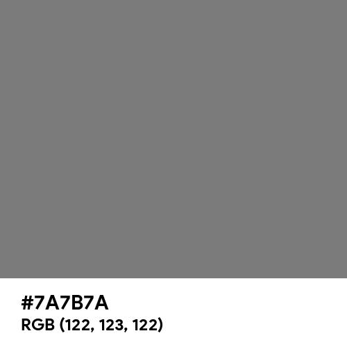 Dusty Grey (Hex code: 7A7B7A) Thumbnail