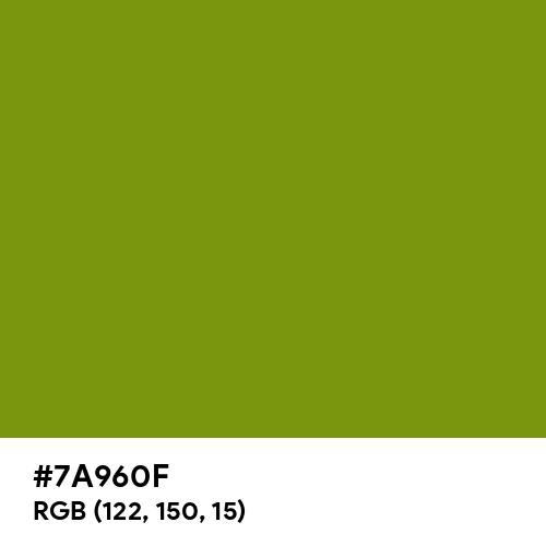 Kiwi (Hex code: 7A960F) Thumbnail