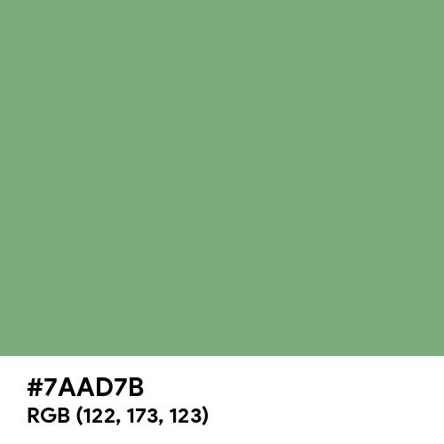 Comfort Green (Hex code: 7AAD7B) Thumbnail