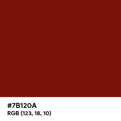 Deep Tea Red (Hex code: 7B120A) Thumbnail