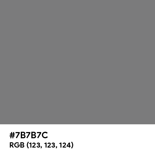 Gray (HTML/CSS Gray) (Hex code: 7B7B7C) Thumbnail
