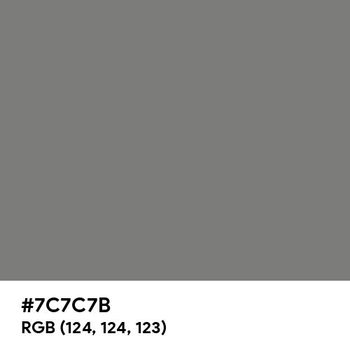 Gray (HTML/CSS Gray) (Hex code: 7C7C7B) Thumbnail
