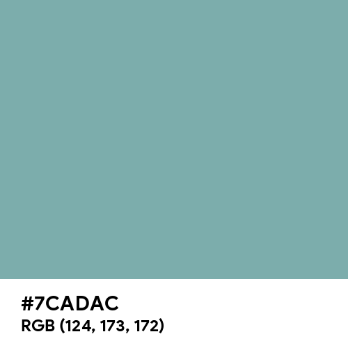 Pastel Turquoise (RAL) (Hex code: 7CADAC) Thumbnail
