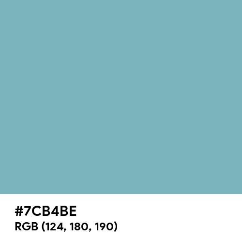 Blue Calm (Hex code: 7CB4BE) Thumbnail