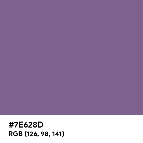 French Lilac (Hex code: 7E628D) Thumbnail