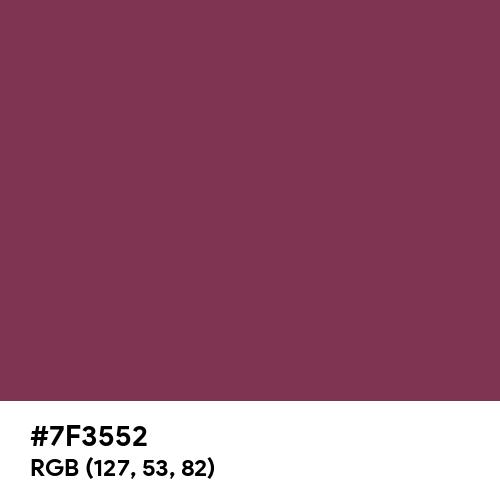 Deep Ruby (Hex code: 7F3552) Thumbnail