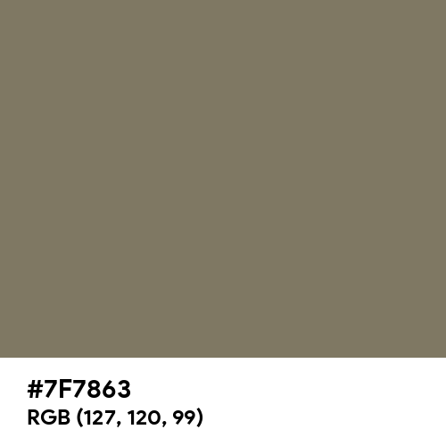 Olive Grey (RAL) (Hex code: 7F7863) Thumbnail