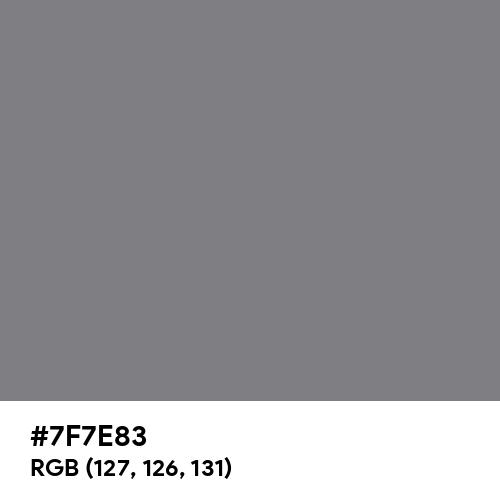 Gray (HTML/CSS Gray) (Hex code: 7F7E83) Thumbnail