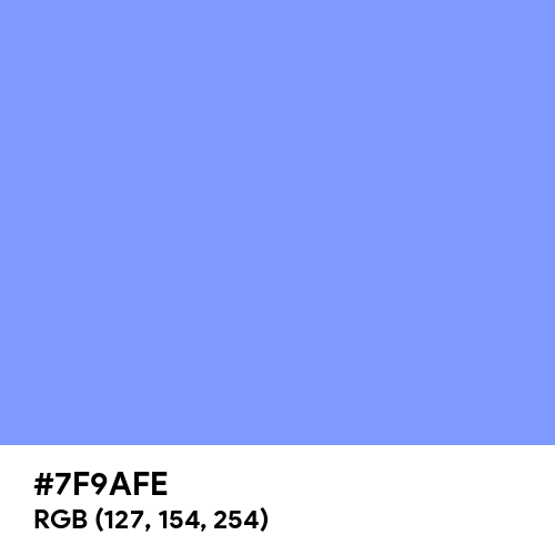 French Sky Blue (Hex code: 7F9AFE) Thumbnail