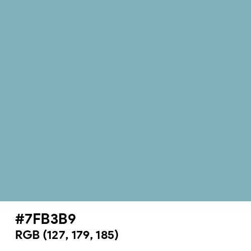 Pewter Blue (Hex code: 7FB3B9) Thumbnail