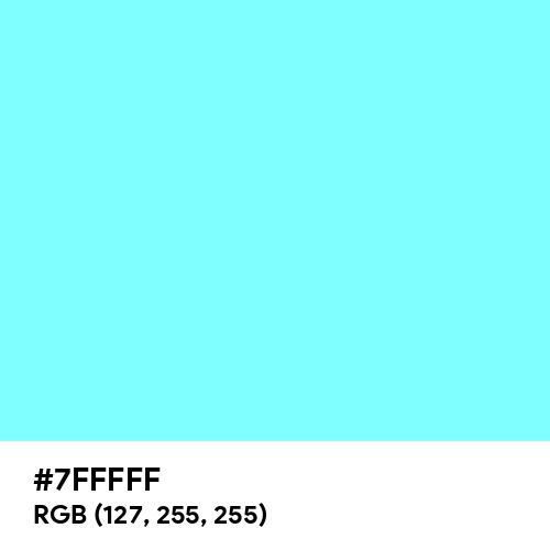 Electric Blue (Hex code: 7FFFFF) Thumbnail