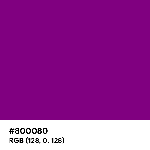 Purple (Hex code: 800080) Thumbnail