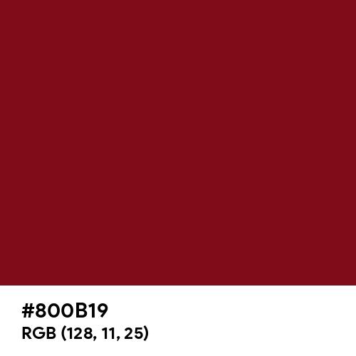 Devil Red (Hex code: 800B19) Thumbnail