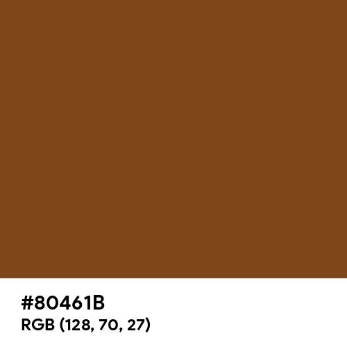 Russet (Hex code: 80461B) Thumbnail