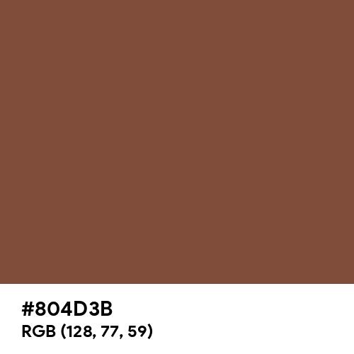 Milk Chocolate (Hex code: 804D3B) Thumbnail